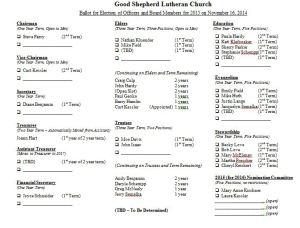 GSLC Election Ballot 11-16-2014