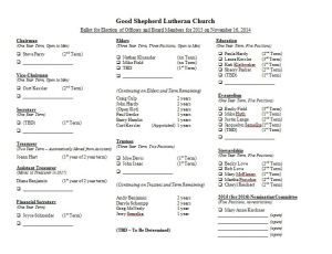 GSLC Nominating Ballot -- as of 11-03-2014