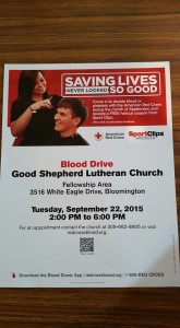 GSLC Red Cross Blood Drive 9-22-2015